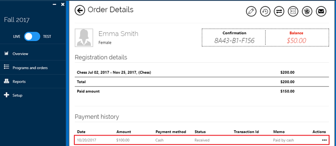 take-a-payment-order-history